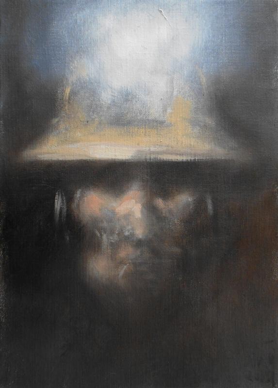 Zilveti - Cabeza de minero - Huile sur toile - 46x33-cm-París-2015