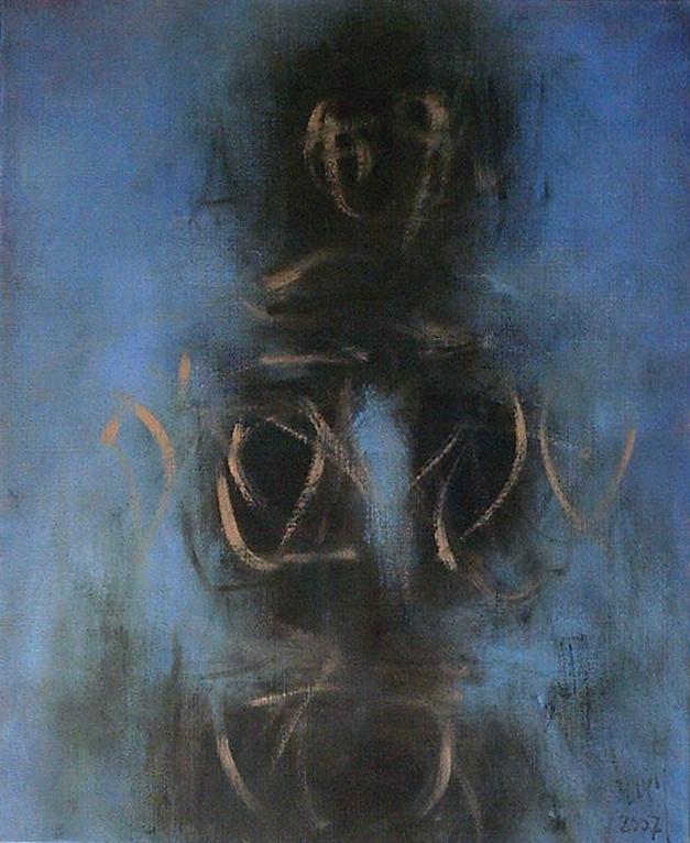Zilveti - Figure en bleu - Huile sur toile - 61x50 cm - Paris 2007