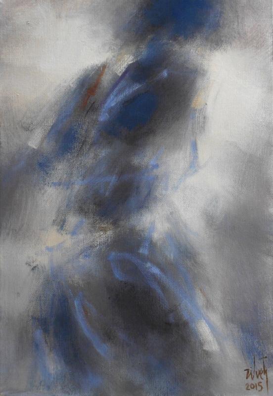 Zilveti - Mujer de espaldas - Huile sur toile -55x38 cm - París 2015