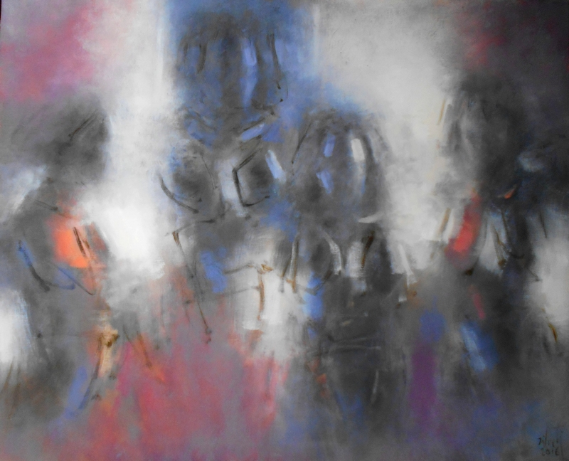 Zilveti - El territorio de las sombras III - Huile sur toile - 81x100 cm - Paris 2016