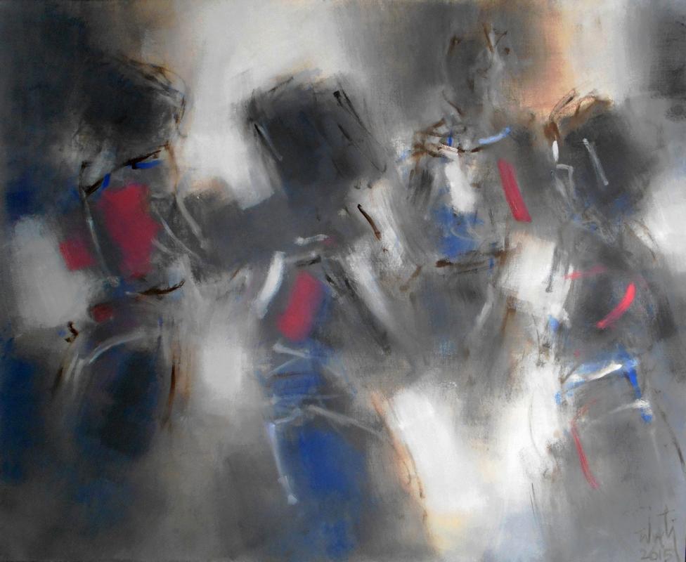 Zilveti - El territorio de las sombras I - Huile sur toile - 81x100 cm.-Paris 2015