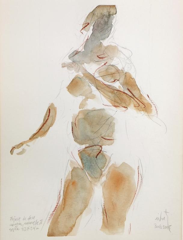 Zilveti -Figure de fâce-dessin 32x24 cm. - Paris 2015