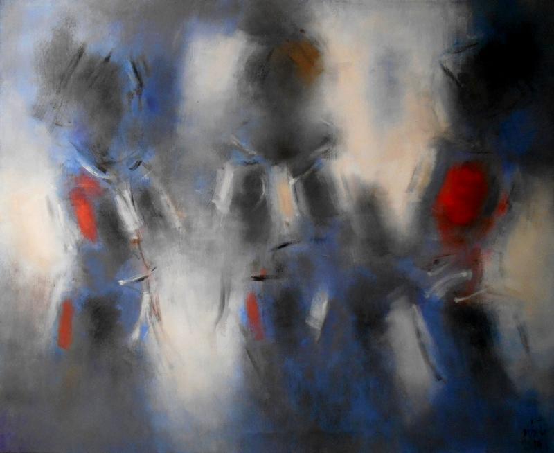 Zilveti - El territorio de las sombras II - Huile sur toile - 81x100 cm.-Paris 2016
