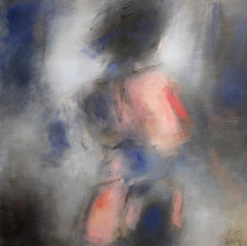 Zilveti - Femme de dos - Huile sur toile - 60x60 cm.-Paris 2016
