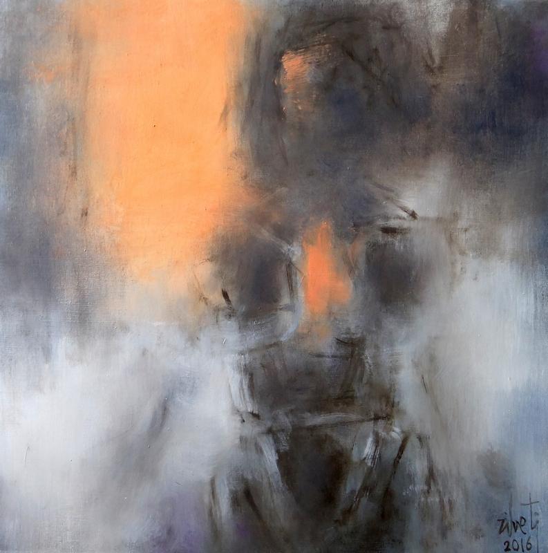 Zilveti - Femme de face - Huile sur toile - 60x60 cm.-Paris 2016