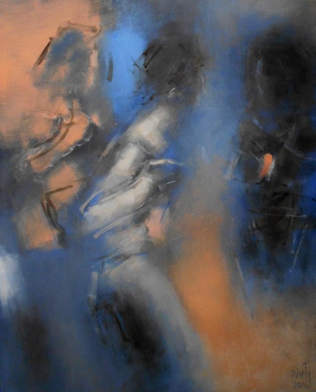 Zilveti - La rue II - Huile sur toile - 100x81 cm - Paris 2016