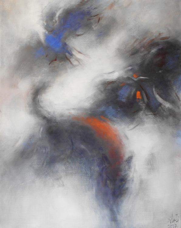 Luis-Zilveti - Aguila, mujer y lobo - h.s.t. 92x73cm. París 2017