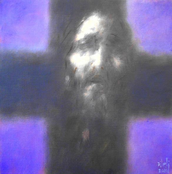 Luis Zilveti - Cabeza (Crucifixión) - h.s.t. 50x50cm. París 2016